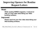 improving openers for routine request letters6