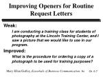 improving openers for routine request letters7