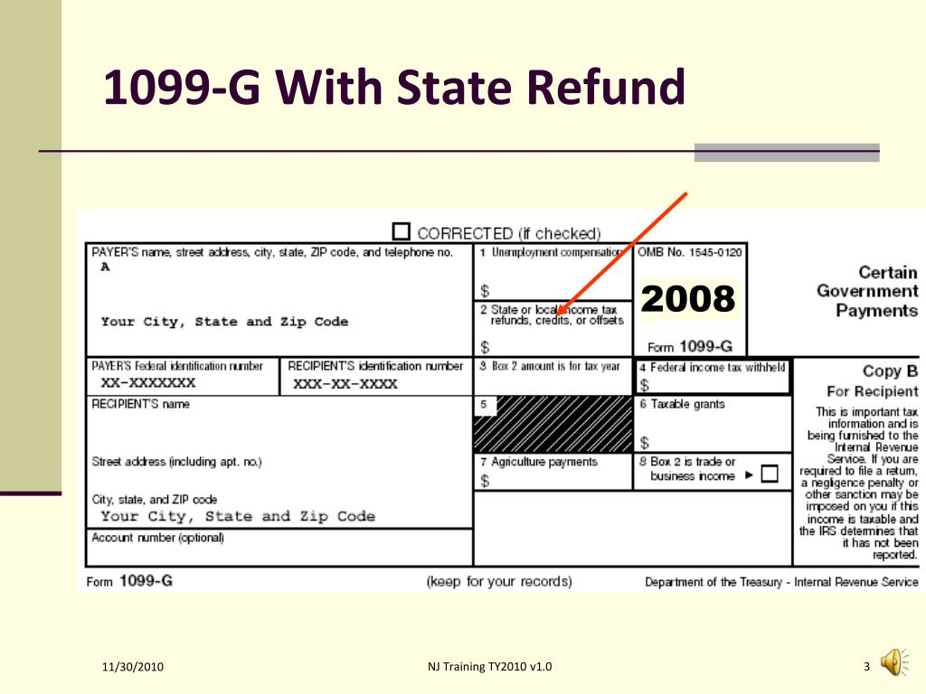 1099-G With State Refund