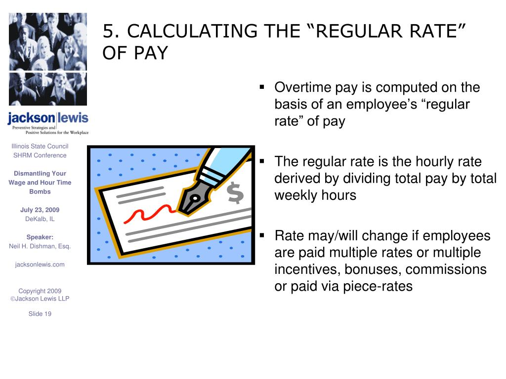 """5. CALCULATING THE """"REGULAR RATE"""" OF PAY"""