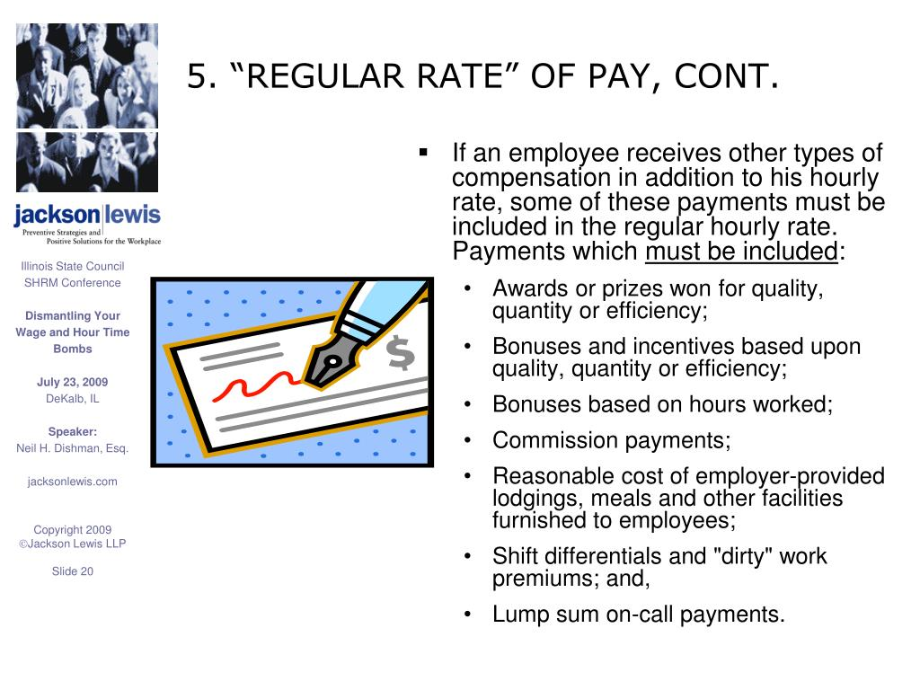 """5. """"REGULAR RATE"""" OF PAY, CONT."""