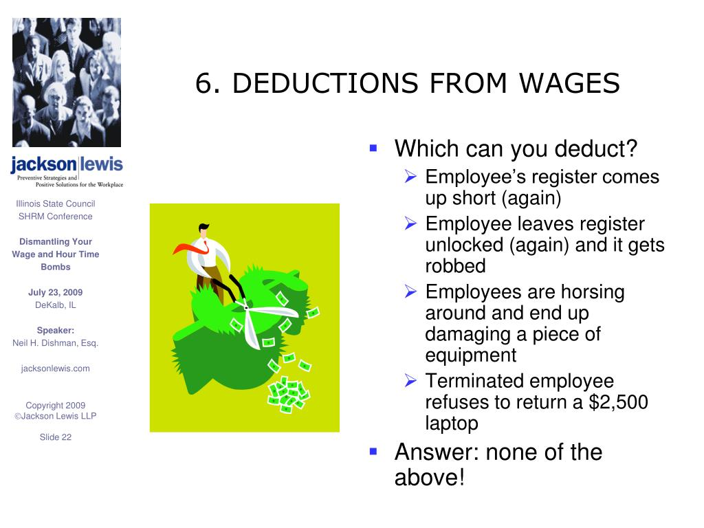 6. DEDUCTIONS FROM WAGES