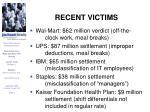 recent victims