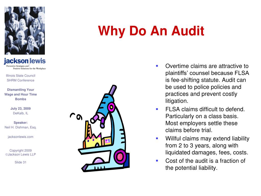 Why Do An Audit