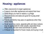 housing appliances