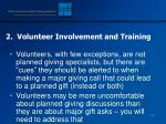 2 volunteer involvement and training