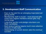 3 development staff communication