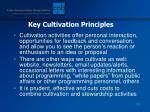 key cultivation principles128