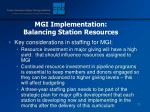 mgi implementation balancing station resources79