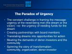 the paradox of urgency