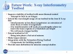 future work x ray interferometry testbed