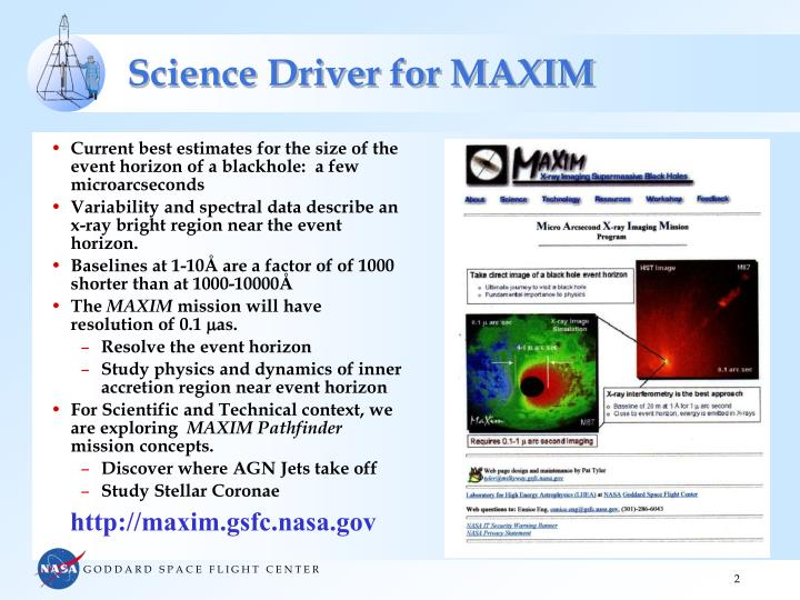 Science driver for maxim