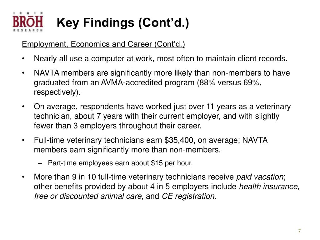 Key Findings (Cont'd.)