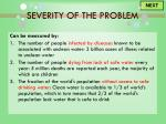 severity of the problem