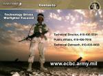 technology driven warfighter focused