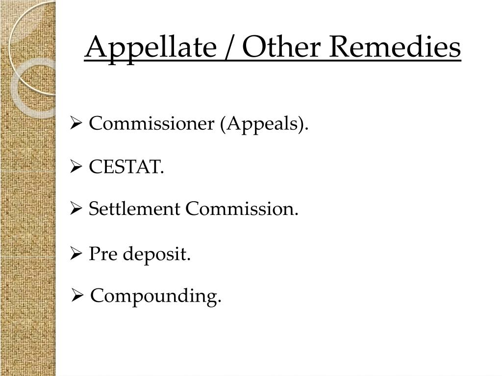 Appellate / Other Remedies