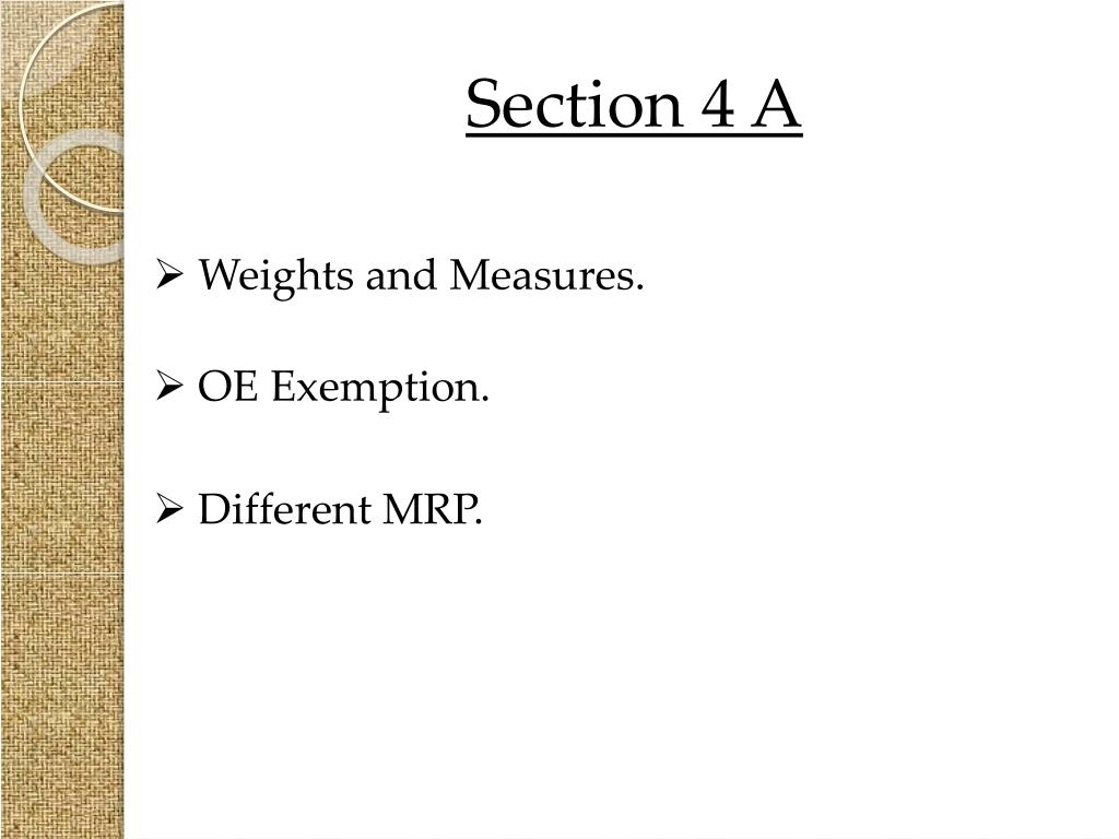 Section 4 A