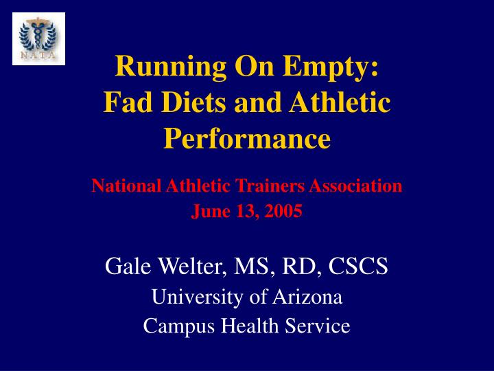running on empty fad diets and athletic performance n.