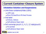 current container closure system