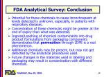 fda analytical survey conclusion