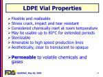 ldpe vial properties