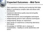 expected outcomes mid term