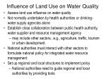 influence of land use on water quality