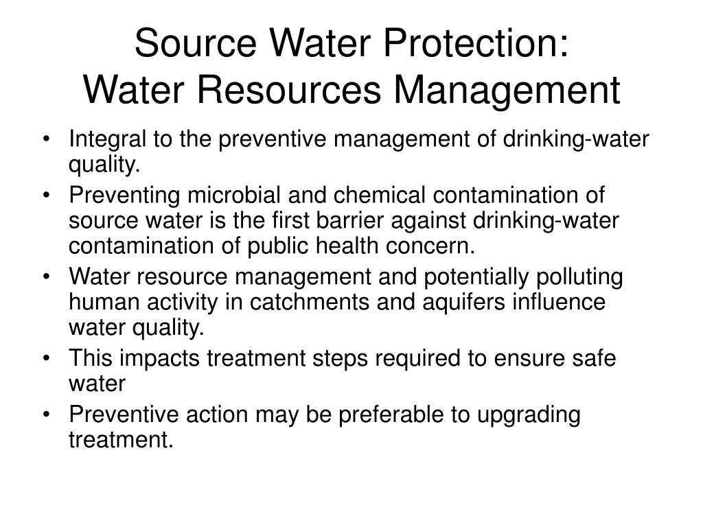 Source Water Protection: