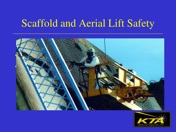 scaffold and aerial lift safety n.