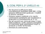 il ccnl per il 2 livello 4