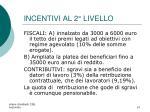 incentivi al 2 livello