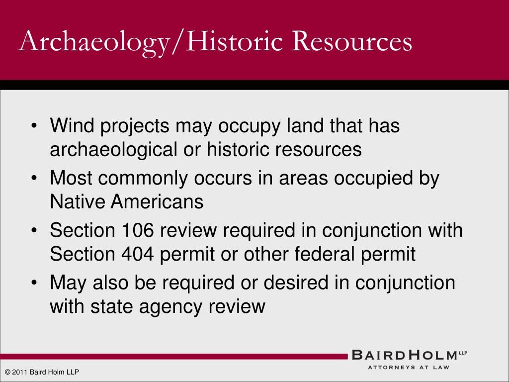 Archaeology/Historic Resources