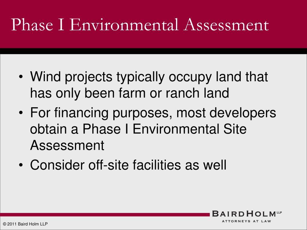 Phase I Environmental Assessment
