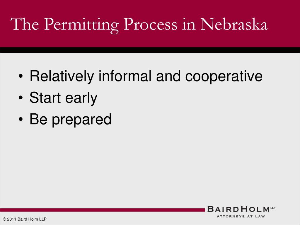 The Permitting Process in Nebraska