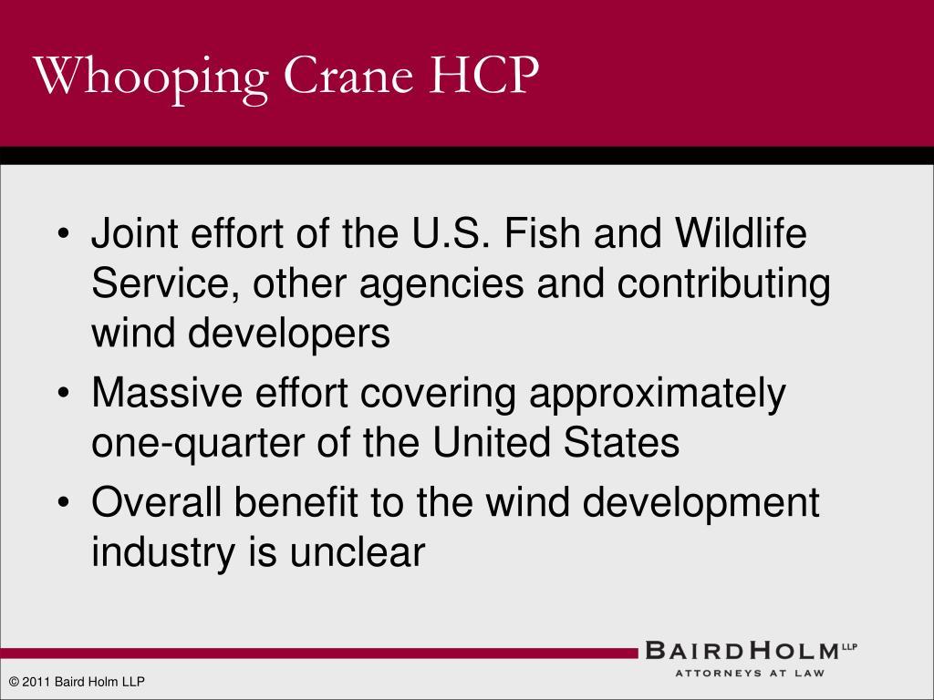 Whooping Crane HCP