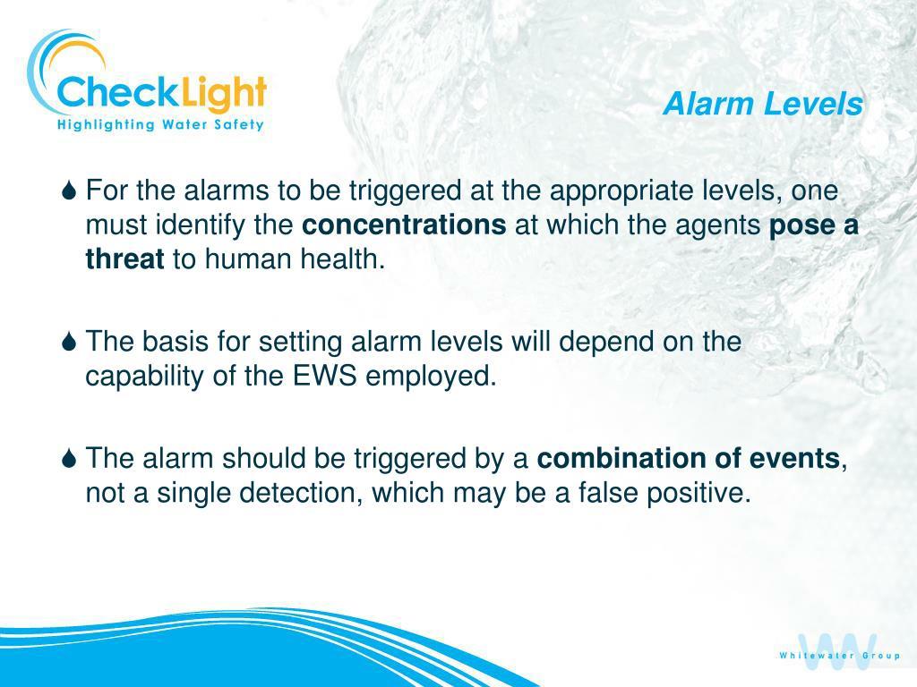 Alarm Levels