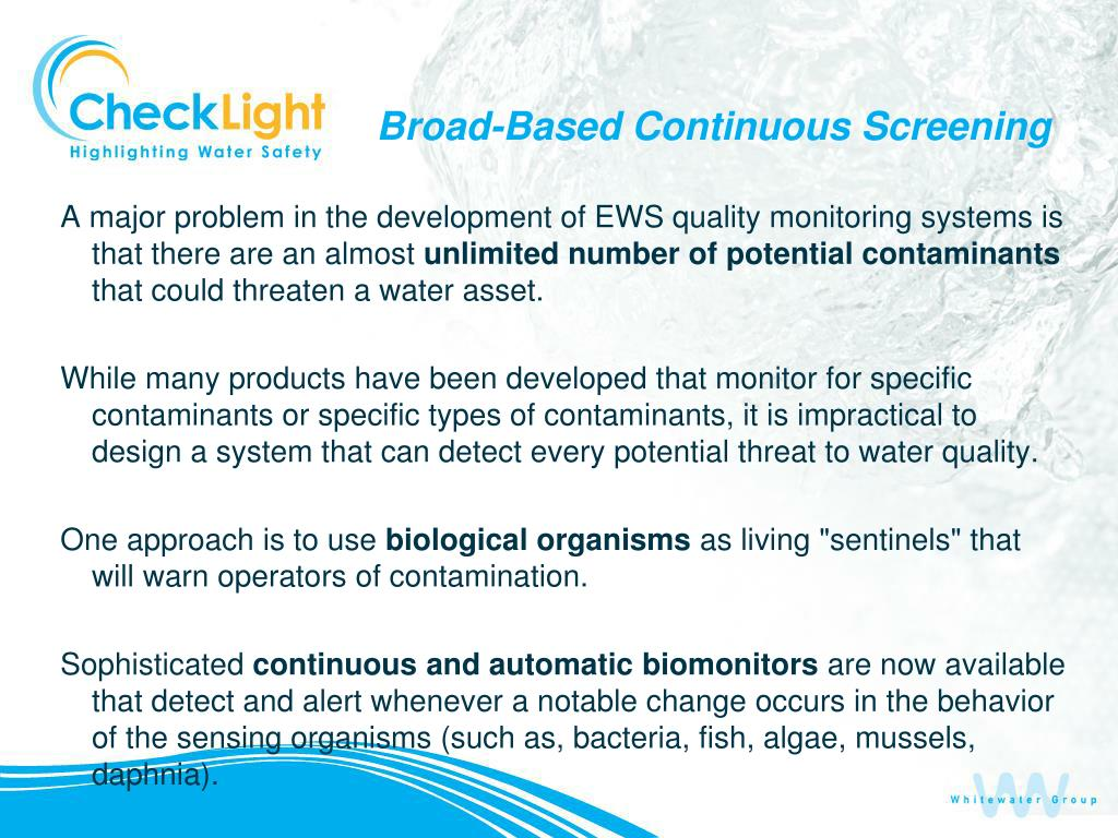 Broad-Based Continuous Screening