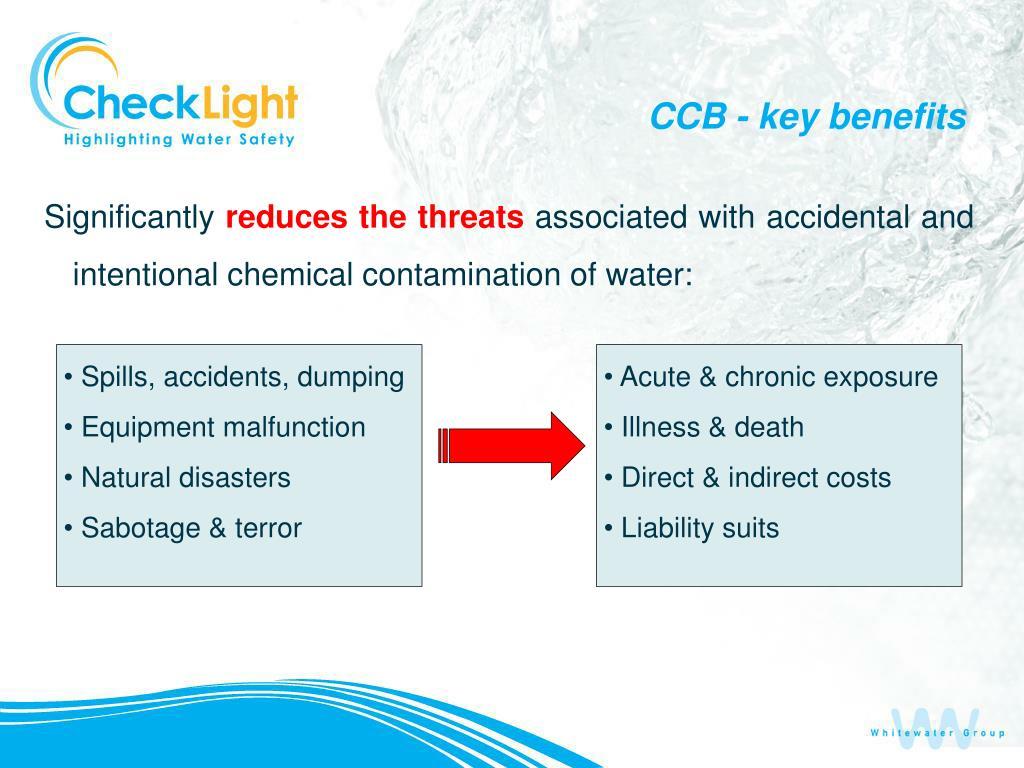 CCB - key benefits