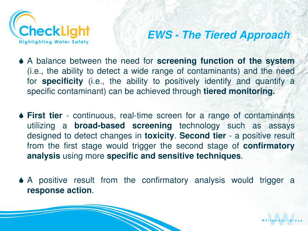 EWS - The Tiered Approach
