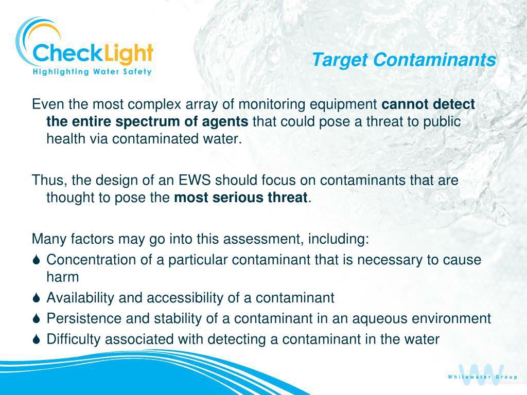 Target Contaminants