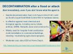 decontamination after a flood or attack s tart immediately even if you don t know what the agent is