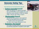 generator safety tips from the u s consumer product safety commission
