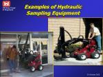 examples of hydraulic sampling equipment