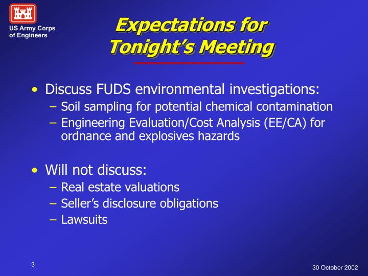 Expectations for tonight s meeting
