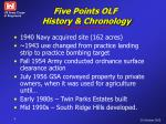 five points olf history chronology