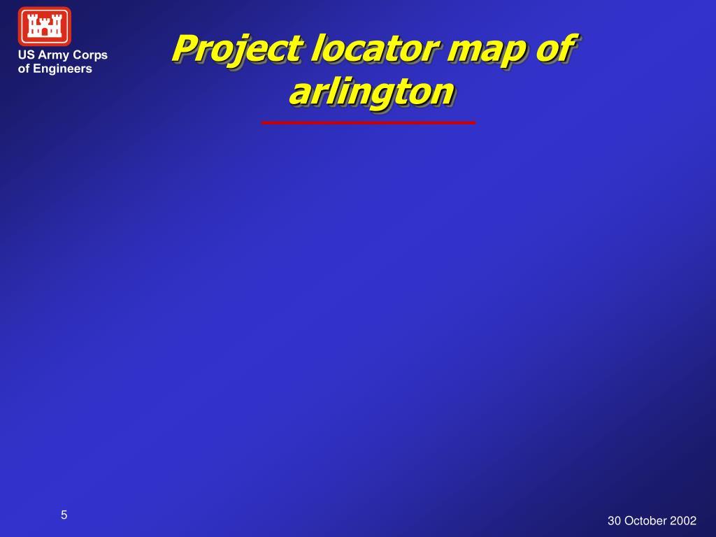 Project locator map of arlington
