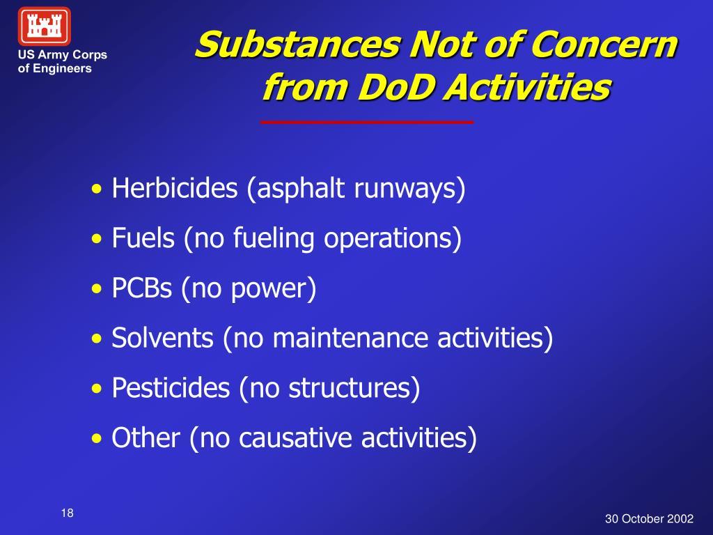 Substances Not of Concern
