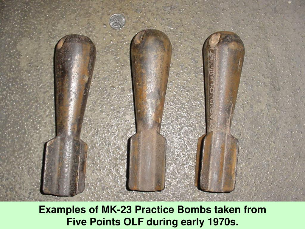Examples of MK-23 Practice Bombs taken from