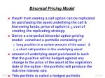 binomial pricing model