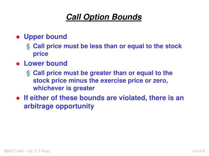 Call Option Bounds